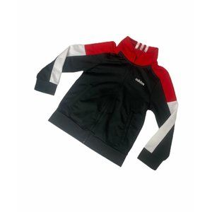 ~Boys size 4T adidas red and black track jacket